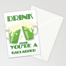 Drink Until You're A Gallagher Vintage St Patricks Day Stationery Cards