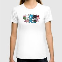 fairy tail T-shirts featuring Fairy Tail Cats by ZeroOmega