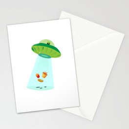 Alien Fastfood Ufo Alien Spaceship Space Stationery Cards