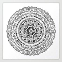 Zendala - Zentangle®-Inspired Art - ZIA 16 Art Print