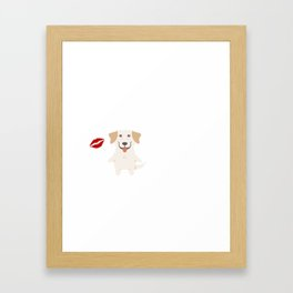 I Kissed A Labrador Retriever And I Liked It Cute Dog Kiss Gift Idea Framed Art Print