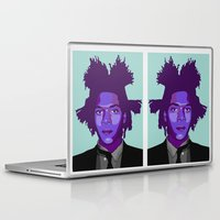 basquiat Laptop & iPad Skins featuring Basquiat by Grace Teaney Art