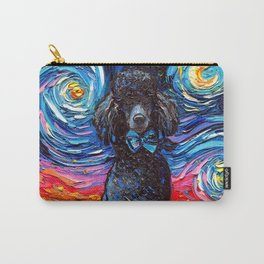 Black Poodle Night Carry-All Pouch
