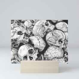 Pile o' Skullies Mini Art Print