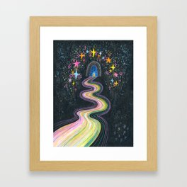 New path reveals itself Framed Art Print