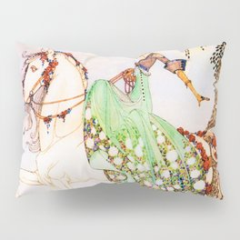 Princess Mignon Minette Who Goes Out In Search Of Prince Soushi On A White Horse Pillow Sham