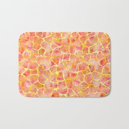 Orange Giraffe Print Bath Mat