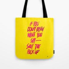 MEAN / popart version Tote Bag