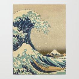 The Great Wave - Katsushika Hokusai Poster