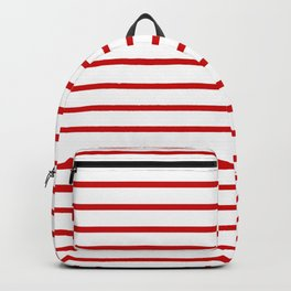 Horizontal Red Stripes Pattern Backpack