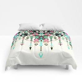 Modern Deco in Pink and Turquoise Comforters