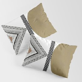 Geometric Shapes with Gold, Copper and Silver Pillow Sham