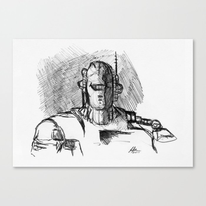 Warbot Sketch #058 Canvas Print