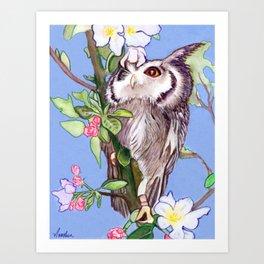 Owl's Eye View Art Print