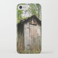 toilet iPhone & iPod Cases featuring Outdoor toilet by jim snyders photography