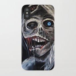 blue eyed zombie iPhone Case