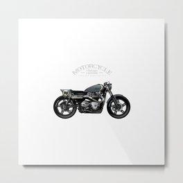 Vintage Street Tracker Motorcycle Poster Metal Print