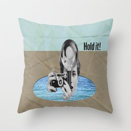 Hold it Throw Pillow