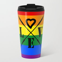 Rainbow color .  love Travel Mug