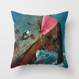 Big Blue Whale Throw Pillow