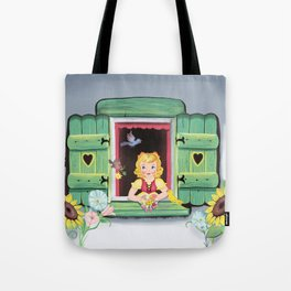 Even The Birds Bring Her Pretty Flowers Tote Bag