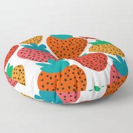 Funny strawberries Floor Pillow