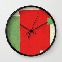 square Wall Clocks featuring Square by Difilippo