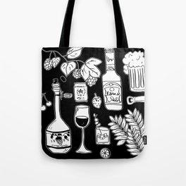 Alcohol Doodles Tote Bag