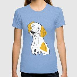 Dog Modern Line Art T-shirt