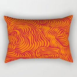 orange red flow Rectangular Pillow