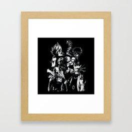 Anime heroes 1 Framed Art Print
