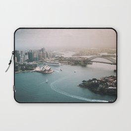 Sydney Opera House Harbour Bridge | Australia Aerial Travel Photography Laptop Sleeve