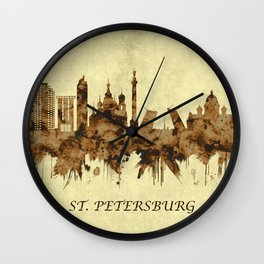 St. Petersburg Russia Cityscape Wall Clock