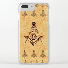 Freemason Symbolism Clear iPhone Case