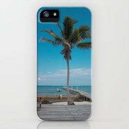Scuba School Belize Palm iPhone Case