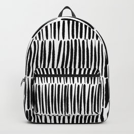 Inspired by Nature | Black & White Organic Line Texture Elegant Minimal Simple Backpack