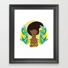 That first cup of coffee feeling Framed Art Print