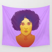 lana Wall Tapestries featuring Lana by Esther Cerga