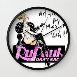 MAY THE BEST MONSTER WIN Wall Clock