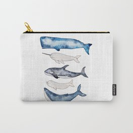 Watercolor orca whale, spermwhale, humpback, narwhal, beluga whales Carry-All Pouch
