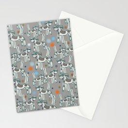 Dogs with spots - Paloma grey Stationery Cards