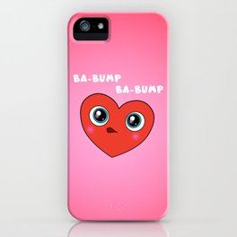 Red Googly Eye Heart iPhone Case
