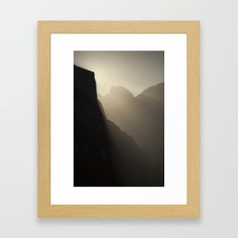 Yosemite Valley Moonlight Framed Art Print