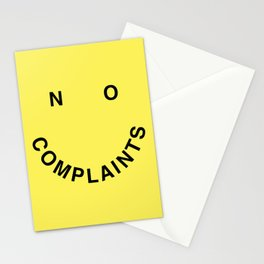No Complaints Yellow + Black Stationery Cards