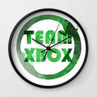 xbox Wall Clocks featuring Team XBox by Bradley Bailey