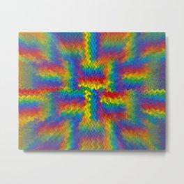 Electrified Rainbow Metal Print