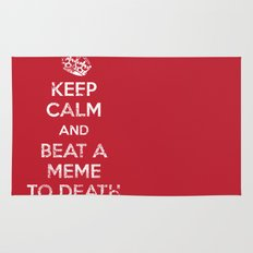 Keep Calm and Beat a Meme to Death Rug