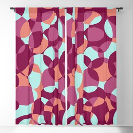 Red psychedelic Blackout Curtain