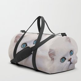 White kitten Duffle Bag