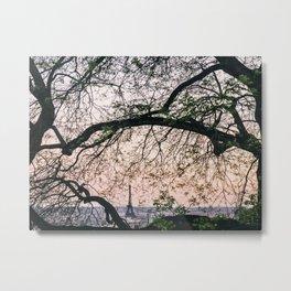 Eiffel Frame Metal Print